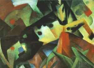 Franz Marc - The Leaping Horse