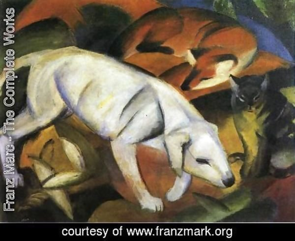 Franz Marc - A Dog, a Fox and a Cat