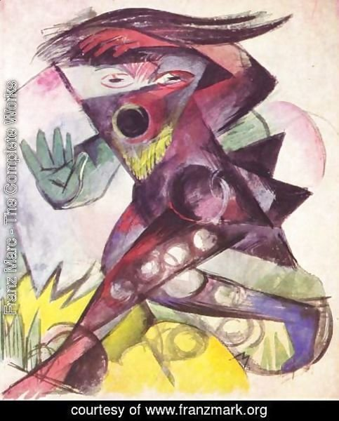 Franz Marc - Caliban, Figurine for Shakespeare's The Tempest