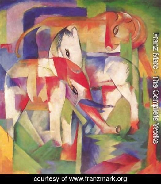 Franz Marc - Elephant, horse, cattle, winter