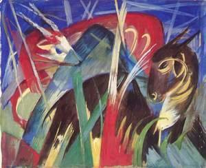 Franz Marc - Mythical beasts I