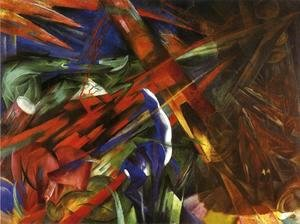 Franz Marc - Animal Destinies Aka The Trees Show Their Rings  The Animals Their Veins