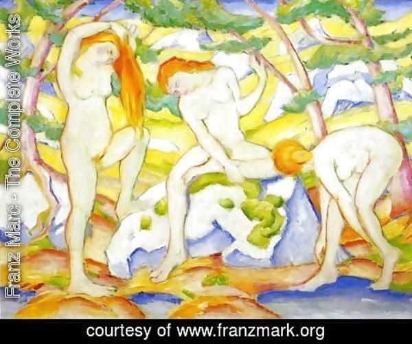 Franz Marc - Bathing Girls