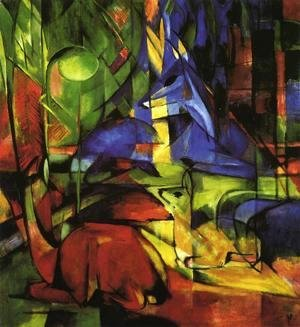 Franz Marc - Deer In The Forest II2
