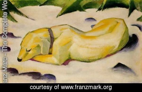 Franz Marc - Dog Lying In The Snow