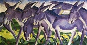 Franz Marc - Donkey Frieze