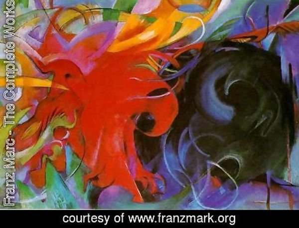 Franz Marc - Fighting Forms