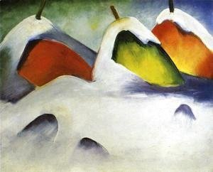 Franz Marc - Haystacks In The Snow