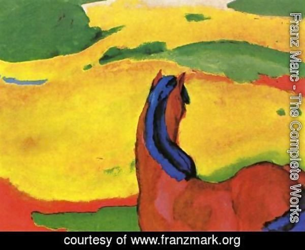 Franz Marc - Horse In A Landscape