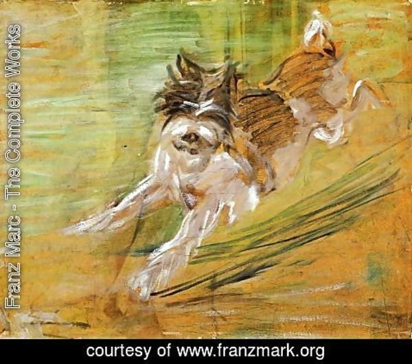 Franz Marc - Jumping Dog Schlick