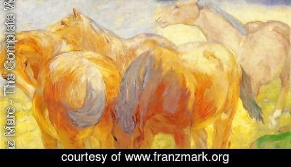 Franz Marc - Large Lenggries Horse Painting