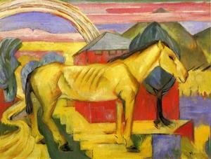 Franz Marc - Long Yellow Horse