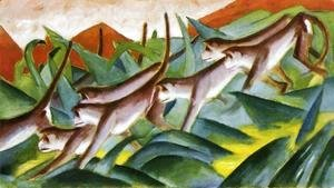Franz Marc - Monkey Frieze