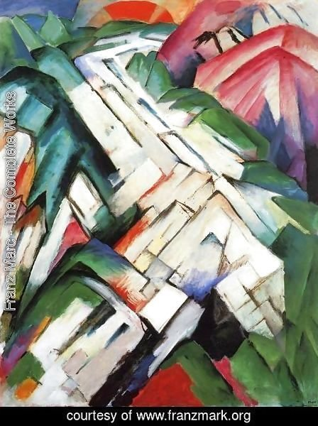 Franz Marc - Mountains Aka Rocky Way Landscape