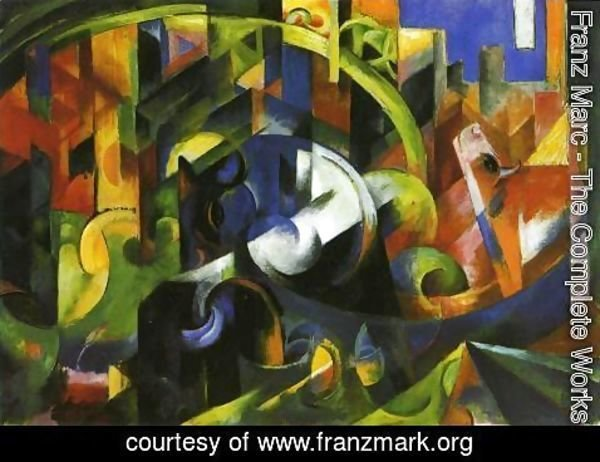 Franz Marc - Picture With Cattle