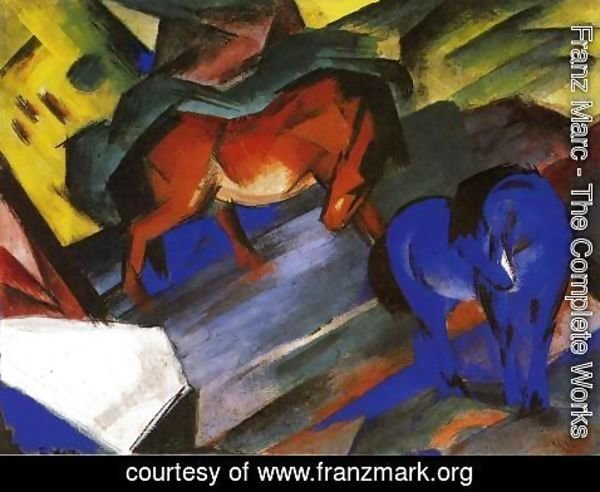 Franz Marc - Red And Blue Horse