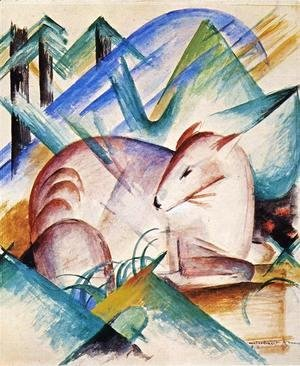 Franz Marc - Red Deer
