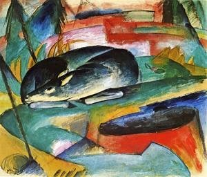 Franz Marc - Sleeping Deer