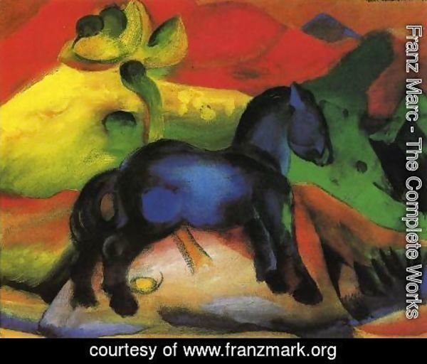 Franz Marc - The Little Blue Horse