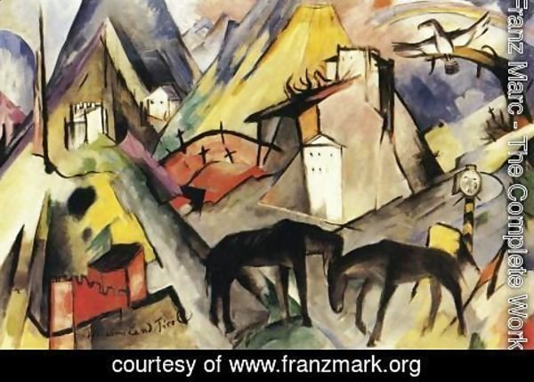 Franz Marc - The Unfortunte Land Of Tyrol