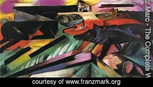Franz Marc - The Wolves Aka Balkan War