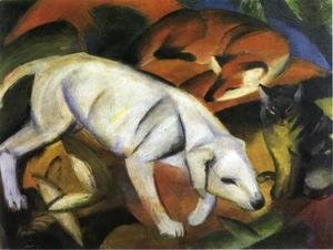 Franz Marc - Three Animals (Dog  Fox And Cat)
