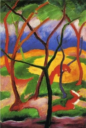 Franz Marc - Weasels At Play
