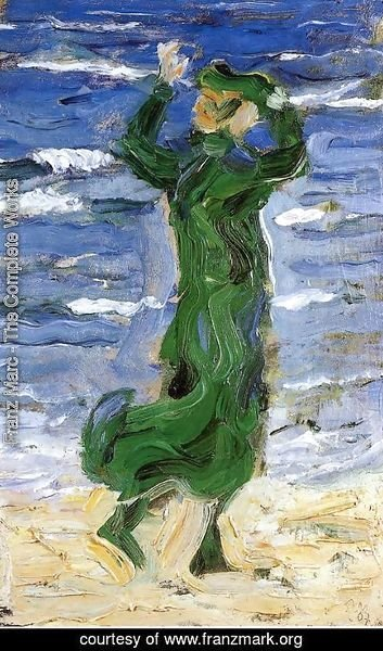 Franz Marc - Woman In The Wind By The Sea