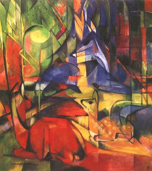 Franz Marc - Deer in a Forest II
