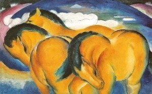 Franz Marc - Small Yellow Horses